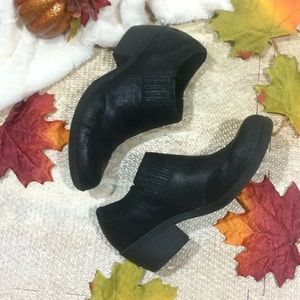 Kork-ease Charcoal Leather Ankle Booties